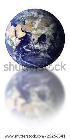 World globe isolated over a white background. - stock photo