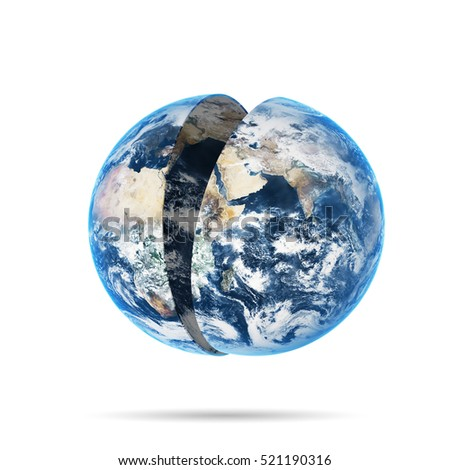 World globe over white background. Elements of this image furnished by NASA