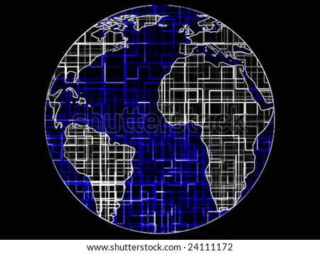 World globe technology abstract