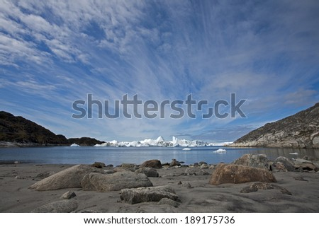 World heritage site Ilulissat Icefjord, Greenland - stock photo