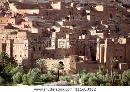 World heritage site ksar and kasbah Ait Ben Haddou, Morocco. - stock photo