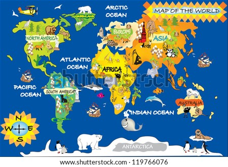 World map cartoon stock images royalty free images vectors world map gumiabroncs Images