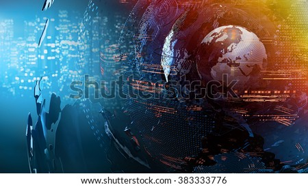 world map abstract concept - stock photo