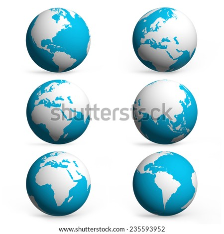 World Map and Globe icon