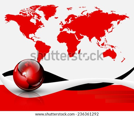 World map background - stock photo