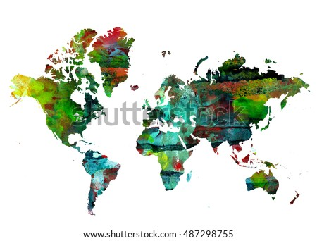 World map background grunge background abstract stock illustration world map background grunge background abstract emotional art modern design element gumiabroncs Gallery