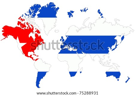 World map background cuba flag stock illustration 75288931 world map background with cuba flag gumiabroncs Images