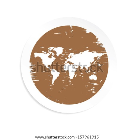 World map brown color jpg format stock illustration 157961915 world map brown color jpg format gumiabroncs Gallery