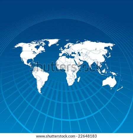 World Map Communication - stock photo