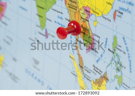 World map-countries  - stock photo