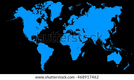 World map europe asia north america stock illustration 468917462 world map europe asia north america south america africa australia gumiabroncs Images