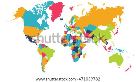 World map europe asia north america ilustracin en stock 471039782 world map europe asia north america south america africa australia gumiabroncs Image collections