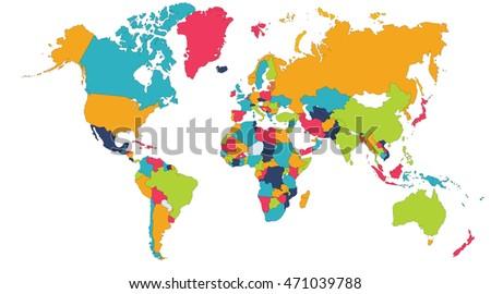 World map europe asia north america stock illustration 471039788 world map europe asia north america south america africa australia gumiabroncs Gallery