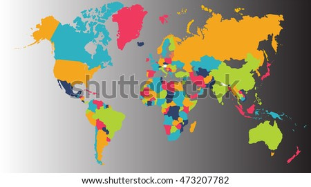 World map europe asia north america stock illustration 473207782 world map europe asia north america south america africa australia gumiabroncs Images