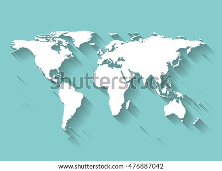 World map flat