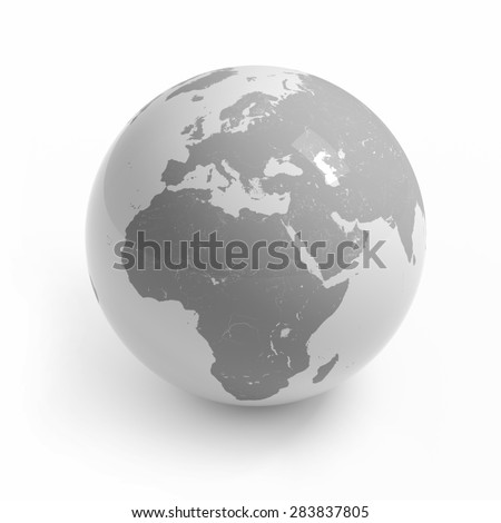 World map globe isolated clipping path stock illustration world map globe isolated with clipping path on white africa europe asia gumiabroncs Choice Image