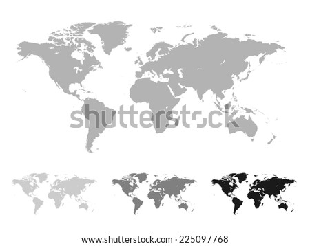 World map grey black white ilustracin en stock 225097768 shutterstock world map grey black and white gumiabroncs Gallery