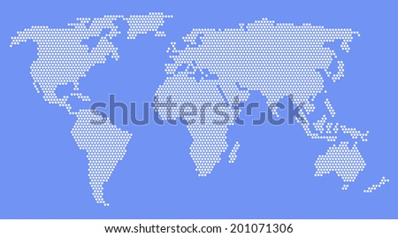 World Map. Illustration.