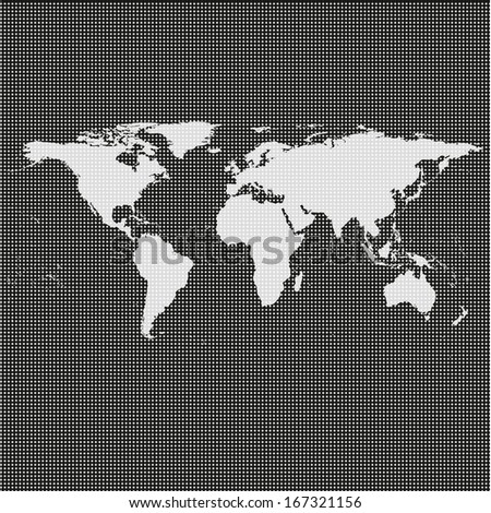 world map illustration on a black background