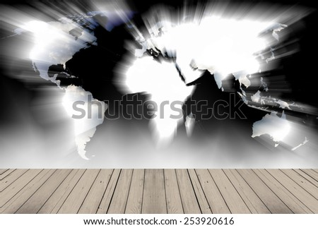 world map in the paper background - stock photo