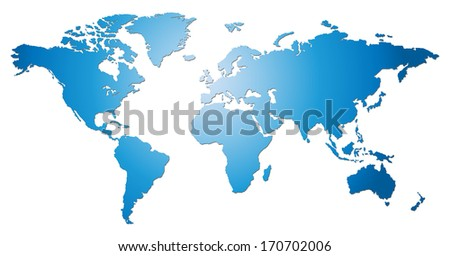 World map isolate - stock photo