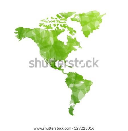 World map isolated - stock photo