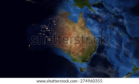World map montage australia day night stock illustration 274960355 world map montage australia day night contrast public domain maps furnished by nasa gumiabroncs Image collections