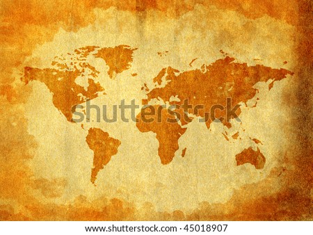World Map Old - stock photo