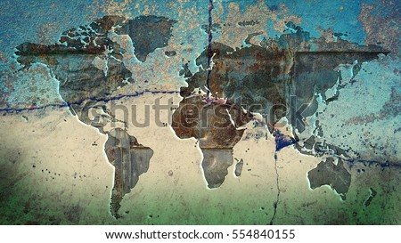 World map on blue beige green stock illustration 554840155 world map on a blue beige and green stone background gumiabroncs Gallery