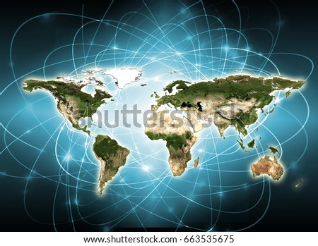 World map on technological background best stock illustration world map on technological background best stock illustration 663535675 shutterstock gumiabroncs Image collections