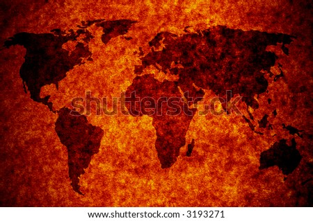 world map on abstract paper background Map: http://www.lib.utexas.edu/maps/world_maps/world_pol02.jpg copyright:http://www.lib.utexas.edu/maps/faq.html#3.html - stock photo