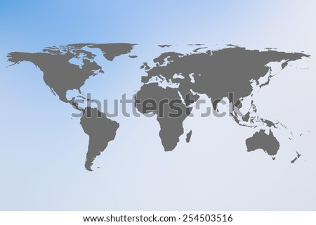 World map on blur backgrounds - stock photo