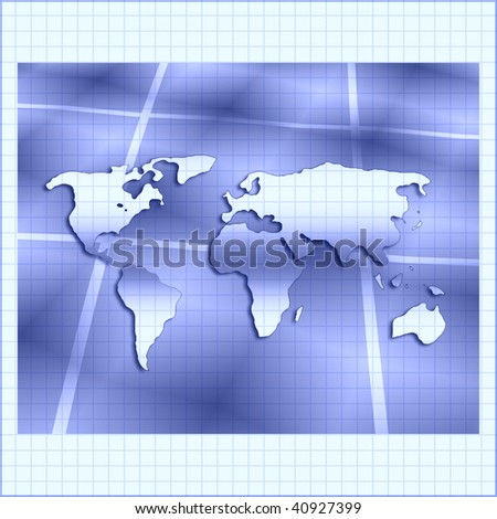 World Map On Grid