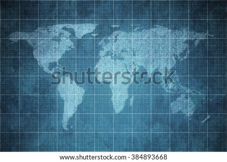 World map on old blueprint background stock photo download now world map on old blueprint background texture malvernweather Image collections