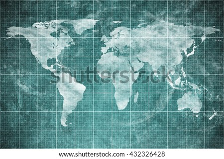 World map on old blueprint background stock photo royalty free world map on old blueprint background texture technical backdrop paper concept technical industrial malvernweather Images