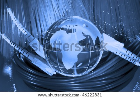 world map technology style against fiber optic background more in my portfolio - stock photo