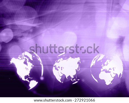 world map technology style for your design - stock photo