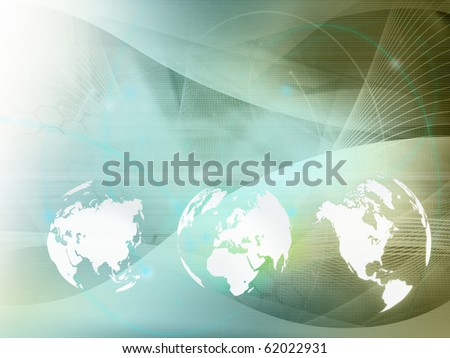 world map technology style  perfect background with space for text or image - stock photo