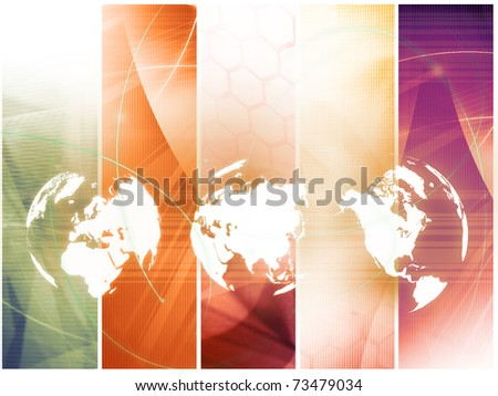 world map technology style - perfect background with space for text or image - stock photo