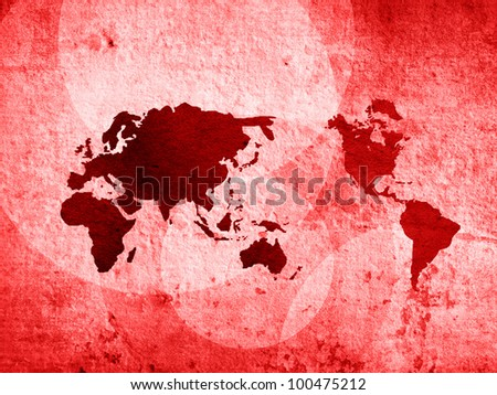 world map vintage artwork perfect background with space - stock photo