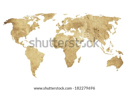 world map vintage artwork - perfect background with space for text or image - stock photo