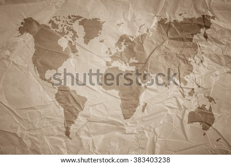 World map vintage pattern background color stock photo 383403238 world map vintage pattern for background in color tonenatural recycled paper texturenatural gumiabroncs Choice Image