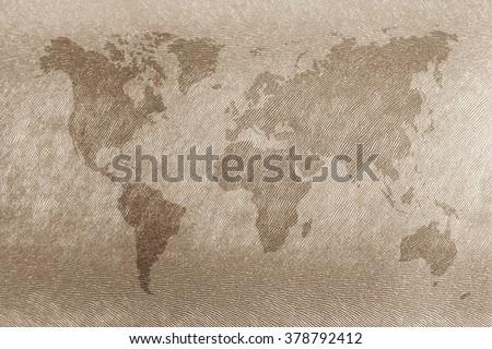 World Map Vintage Pattern Background Light Stock Photo Royalty Free - World map sepia toned