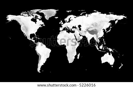 World map grayscale elevation on black ilustracin en stock 5226016 world map with grayscale elevation on black background gumiabroncs Image collections