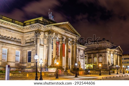 World Museum and the Walker Art Gallery in Liverpool, England - stock photo