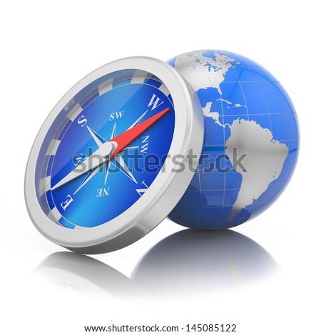 World navigation concept - stock photo
