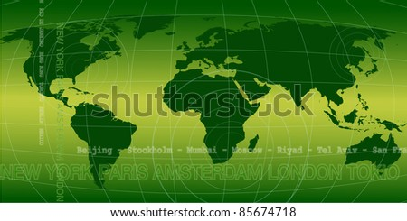 World news background in green - stock photo
