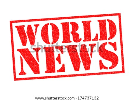 WORLD NEWS red Rubber Stamp over a white background.