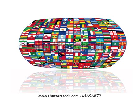 World  of Flags - stock photo