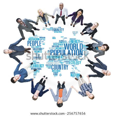 World Population Global People Community International Concept - stock photo